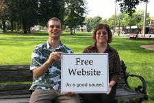 August 2009,  Windsor CT: Free Website to a Good Cause